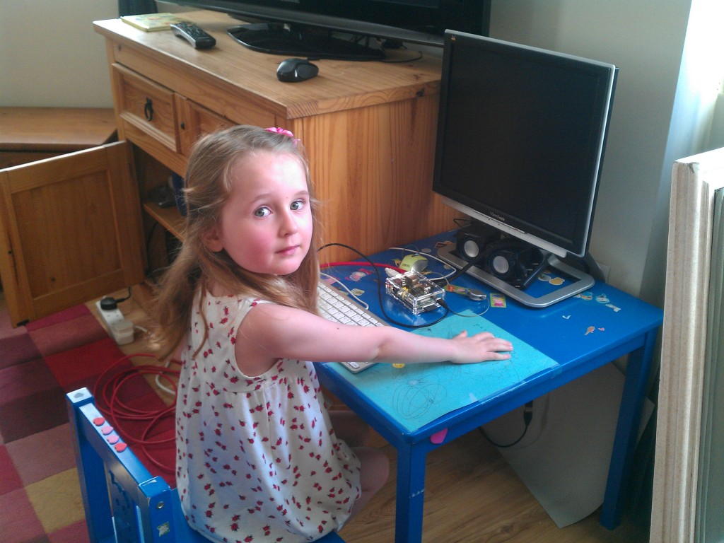 Pascale with Raspberry Pi